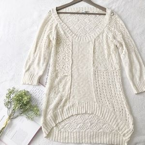 Maurice's Long Cream Knit Sweater